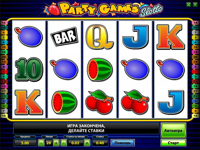 party games slotto игровой автомат